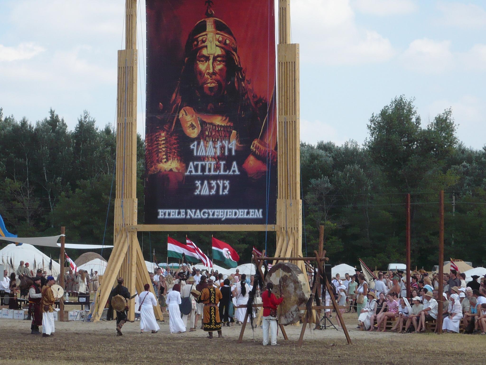 Atilla Kapu a II. Ősök Napján - Kertai Zalán festménye alapján