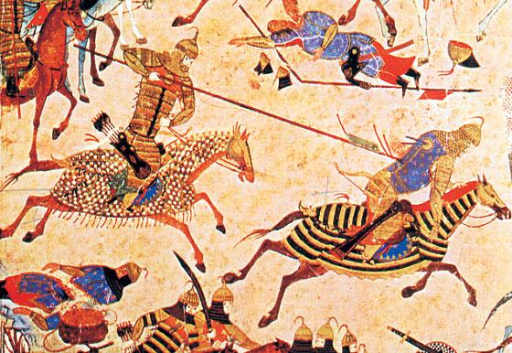 Csagatájok - harci jelenet