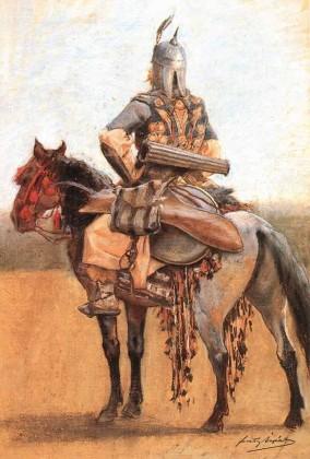 Feszty Árpád_Honfoglaláskori magyar lovas