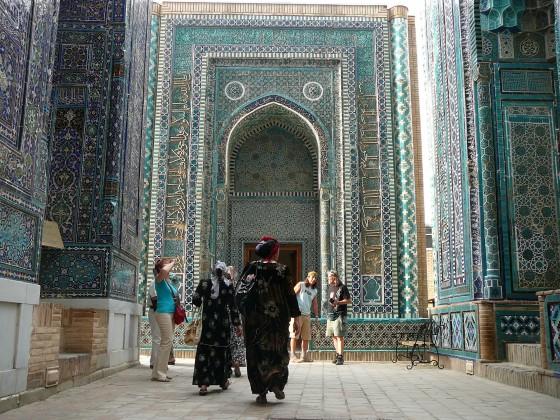 A Kuszám Ibn Abbasz mauzóleum bejárata