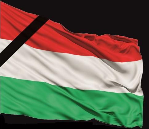 Magyar zászló gyászszalagos_20