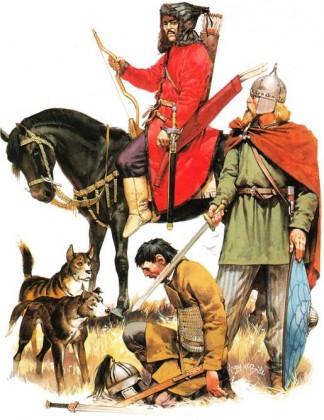A hunok és a behódolt népek - Angus McBride elképzelése szerint